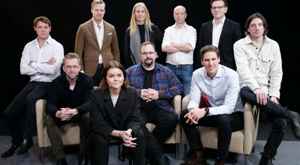 Övre raden: Andreas Stormvinge, Olov Sandberg, Kerstin Cooley, John Elvesjö, Matti Zemac, Daniel Mijic. Nedre raden: Jonas Hillström, Emelie Telander, Anders Lövgren, Alexander Herbring