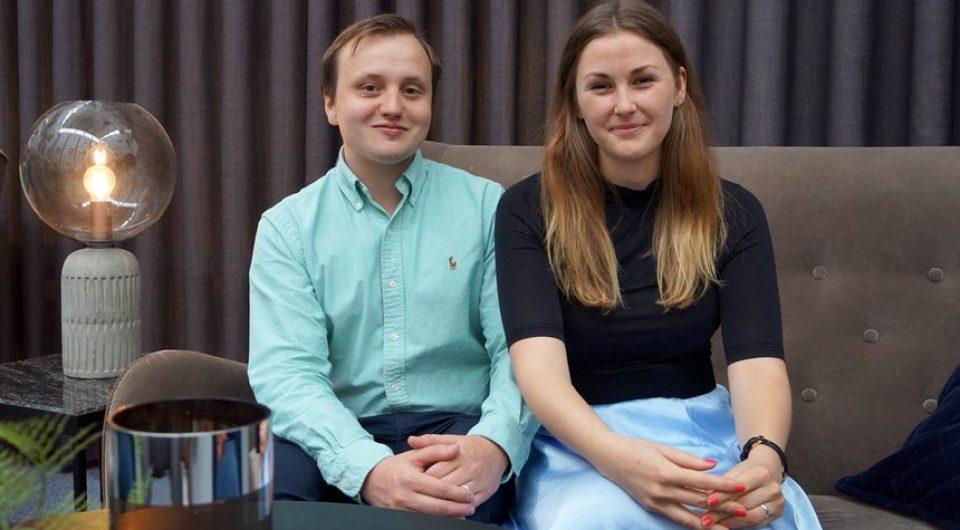 Jonathan Henriksson och Rebecka Österberg, grundare av Rdy Arena. Foto: Sarah Gotthold